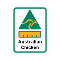 Australian Chicken Stickers - 1.9cm x 2.5cm - Portrait Orientation