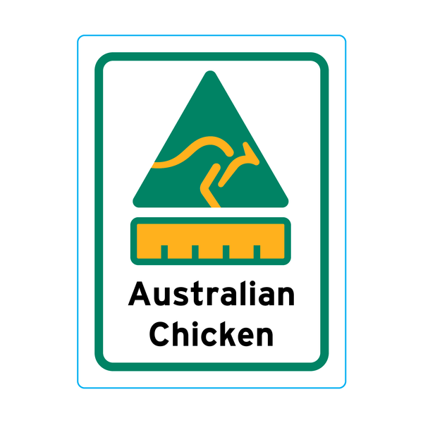 Australian Chicken Stickers – 1.9cm x 2.5cm - Country Of Origin Stickers