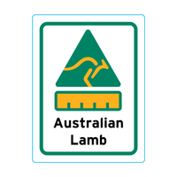 Australian Lamb Stickers – 1.9cm x 2.5cm - Country Of Origin Stickers