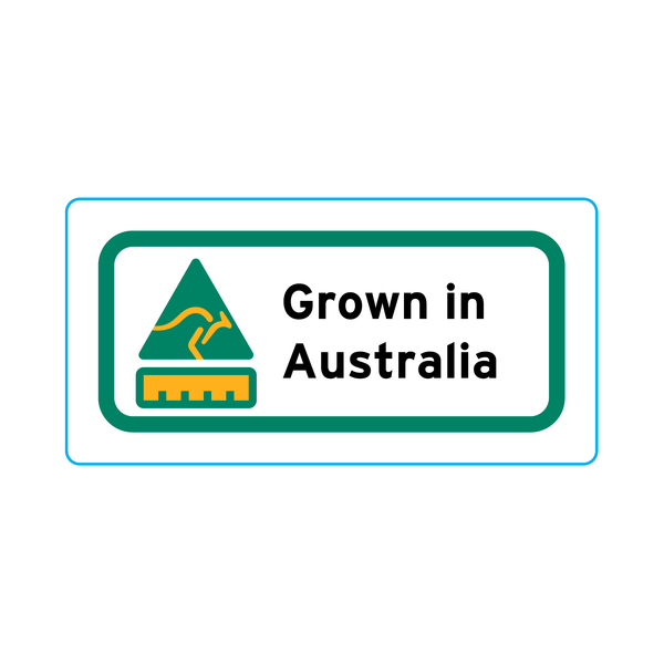 Grown In Australia Stickers – 2cm x 1cm - Country Of Origin Stickers