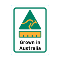 Grown In Australia Stickers – 1.9cm x 2.5cm - Country Of Origin Stickers