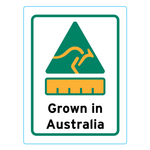 Grown In Australia Stickers – 2.4cm x 3.2cm - Country Of Origin Stickers