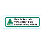 Made In Australia From At Least 50% Australian Ingredients Stickers - 3cm x 1cm - Landscape Orientation