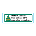 Made In Australia From At Least 95% Australian Ingredients Stickers - 3cm x 1cm - Landscape Orientation
