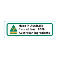 Made In Australia From At Least 95% Australian Ingredients Stickers – 3cm x 1cm - Country Of Origin Stickers
