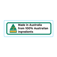 Made In Australia From 100% Australian Ingredients Stickers – 3cm x 1cm - Country Of Origin Stickers