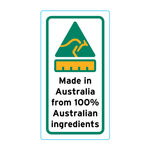 Made In Australia From 100% Australian Ingredients Stickers – 1.6cm x 3cm - Country Of Origin Stickers