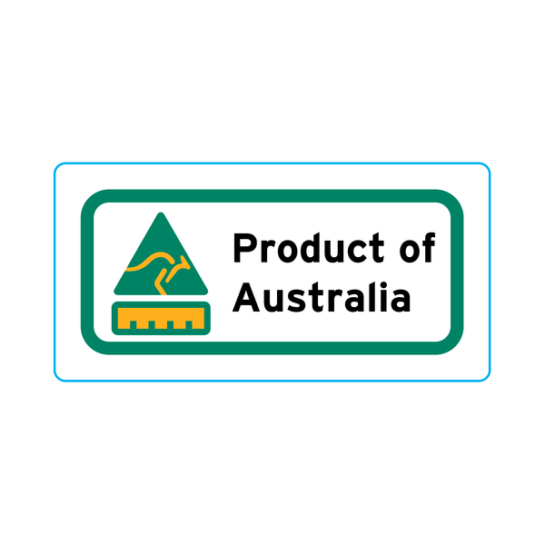 Product Of Australia Stickers – 2cm x 1cm - Country Of Origin Stickers