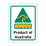 Product Of Australia Stickers – 1.9cm x 2.5cm - Country Of Origin Stickers