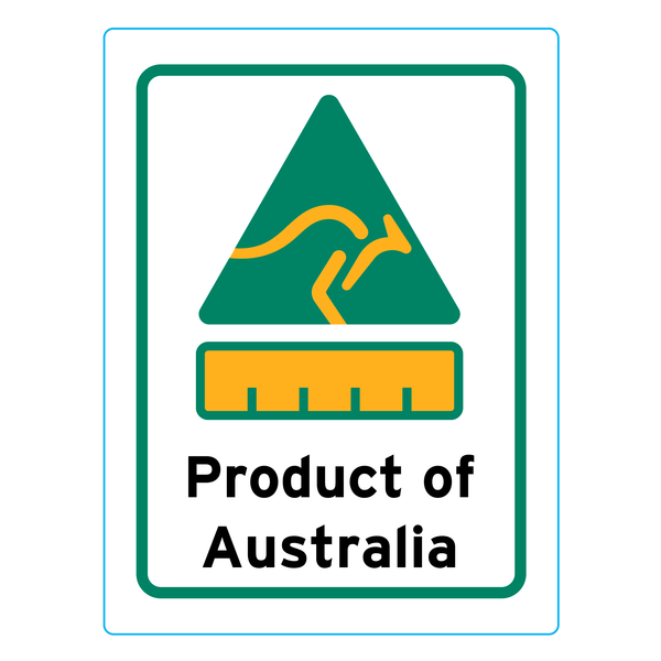 Product Of Australia Stickers – 2.4cm x 3.2cm - Country Of Origin Stickers