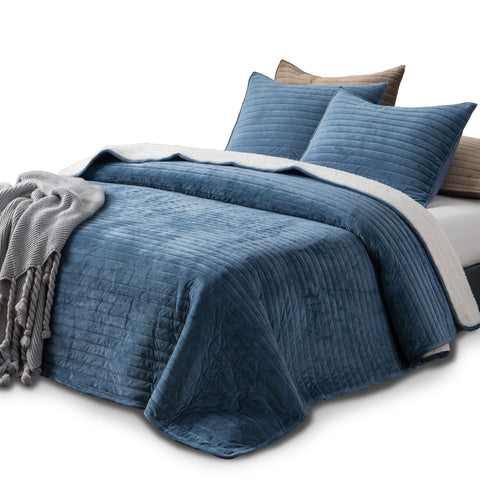 Velvet Blue Comforter Bedding