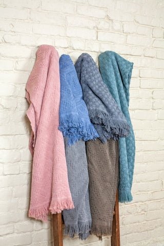 Knitted Cotton Throws & Blankets
