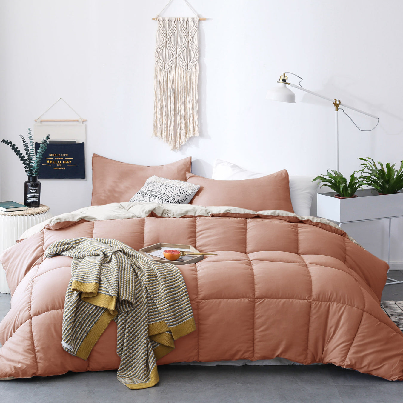 Reversible Cozy Soft Luxury Down Alternative Comforter Set