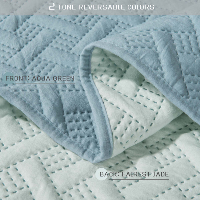 Kasentex Ultra Soft 3-pc Bedding Set with Contemporary 2-Tone REVERSIBLE Color