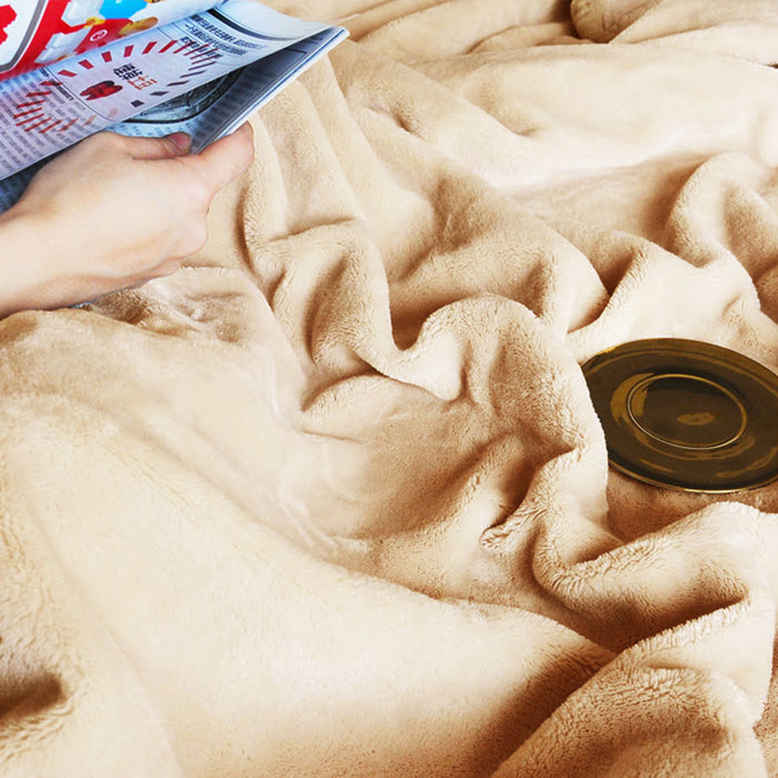 Kasentex Cozy Soft Fleece Throw Blanket- Anti-Static