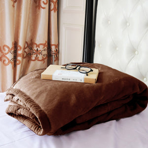 Kasentex Plush Fleece Thermal Blanket Throw, Moisture-Absorbent, Ant-Static - Perfect Holiday Gift