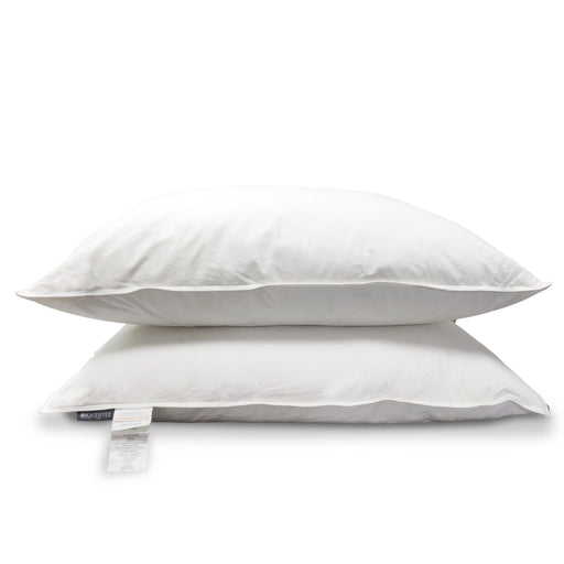 Kasentex White Down & Feather Fill Pillow Set (Pair) - 100% Egyptian Cotton and OEKO Certified - Kasentex