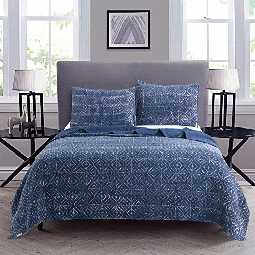 Kasentex Ultra Soft Fall/Winter Cozy Stone-Washed 100% Natural Cotton Quilt Set - Kasentex