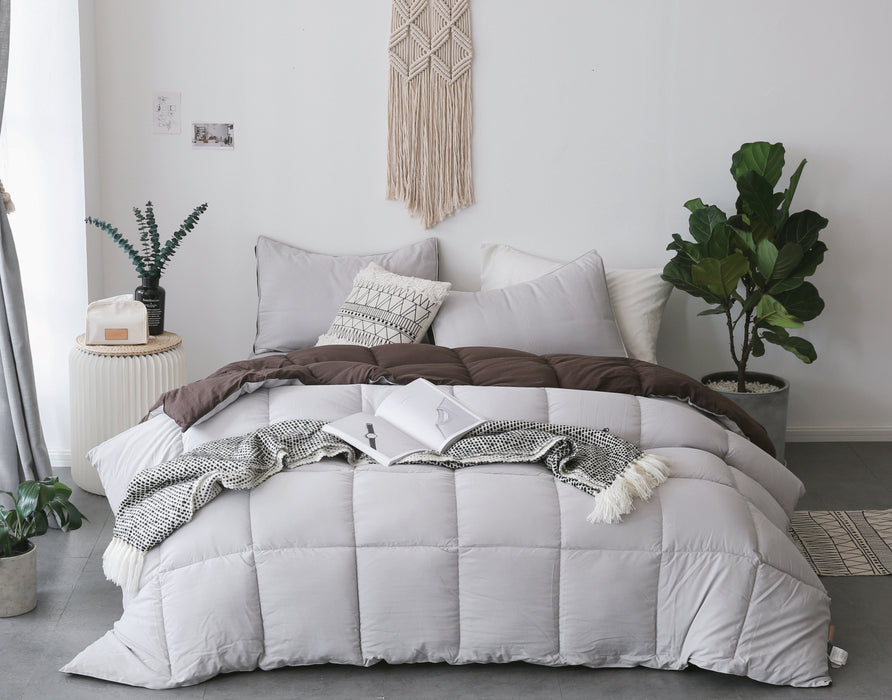 Cozy Soft Reversible Luxury Down Alternative Comforter Set Great Gift For The Holidays Kasentex