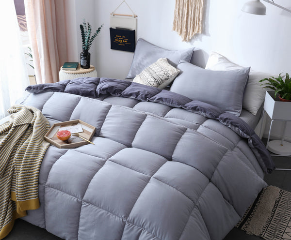 Kasentex All Season Premium Down Alternative Fill Comforter Set - Hypoallergenic & Reversible