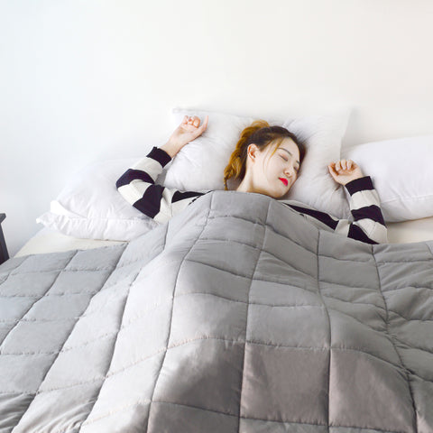 KASENTEX Fall/Winter Perfect Weighted Blanket For Restful Sleep, Anti-Allergies and Anti-Stress - Kasentex