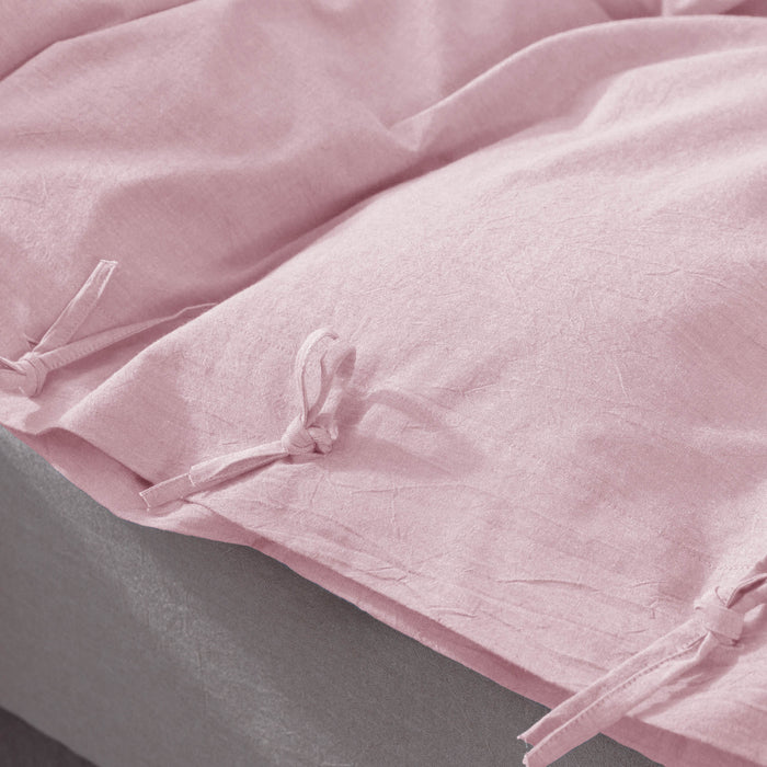 Kasentex All Season 100% Cotton Duvet Cover Set, Quilt Cover with Shams - Pink