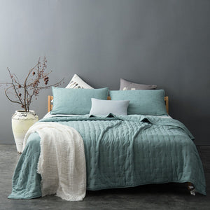kasentex - Kasentex Stone Washed Nostalgic Design Ultra Soft Washable Quilt with Pillow Case - Kasentex - Quilt