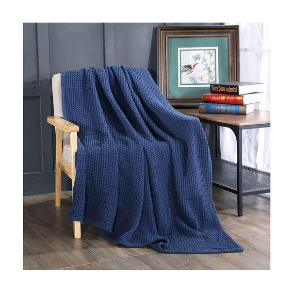 Kasentex Stone-Washed Ultra Soft Throw Blanket 100% Cotton - Kasentex