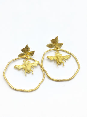Annabelle Hardie Gold Bee Hoops