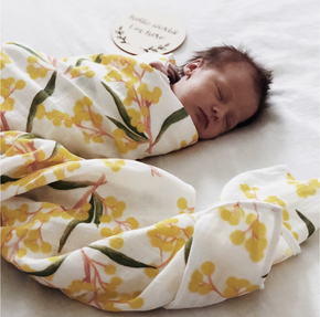 Savannah & Three Swaddle - Wattle baby wrap