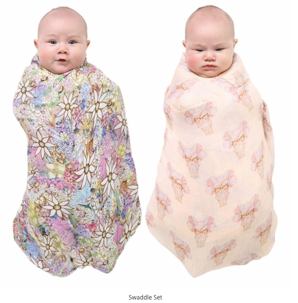 Swaddle - May Gibbs Pretty Lady and Flora and Fauna Swaddle Set