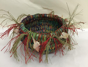 Moa Arts Woven Basket - Paula Savage shells