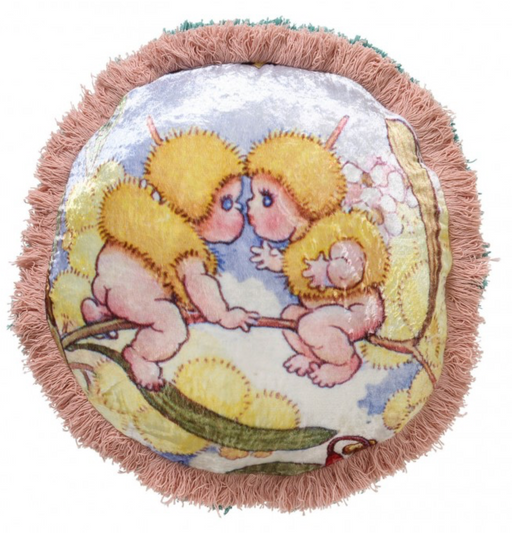 May Gibbs x Kip&Co Cushion - Snuggles in the Tree Pea