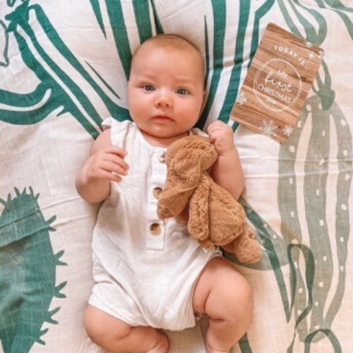 Savannah & Three Swaddle - Cactus baby wrap