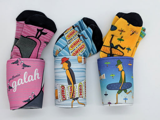 Kurly Wurly Bar Socks & Stubby Holders