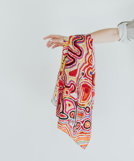 One of Twelve Silk Scarf - Pukara by Jimmy Donegan