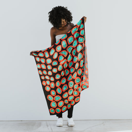 One of Twelve Silk Scarf - Kampagee by Margaret Baragurra