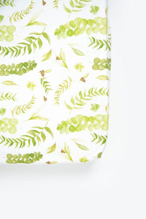 Savannah & Three Fitted Sheet - Native Leaves