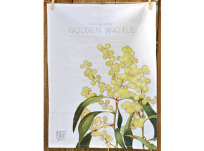 Bell Art Tea Towel - Golden Wattle