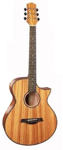 full zebra wood acoustic guitar with sharp cutway 40inch