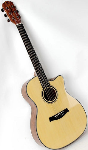 Bubinga wood 40inch acoustic guitar with new design tone bars