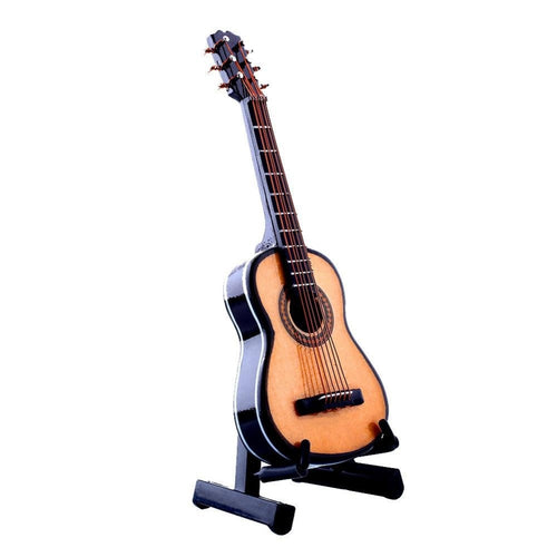 High Quality Mini Miniature Guitar Wooden Acoustic Musical Instruments Toys For Kids Music Guguete With Original Package