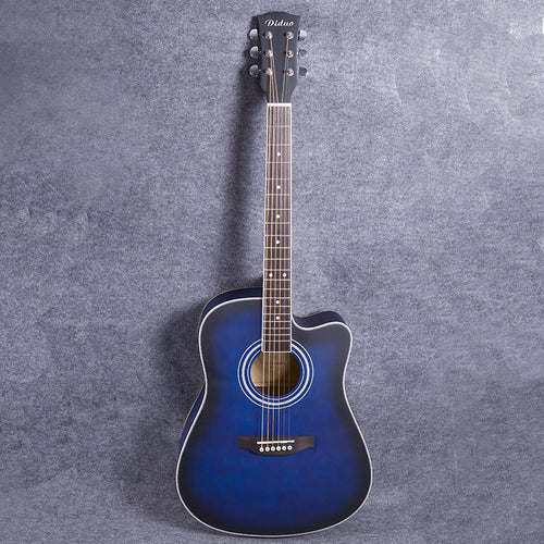 41-36 NEW 41 inch matte paint  blue color Acoustic Guitar Rosewood Fingerboard guitarra with tuner strings