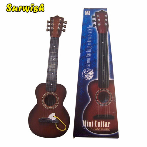 6 Strings Children Simulation Mini Guitar Kids Educational Music Instrument Toy - Type A-1