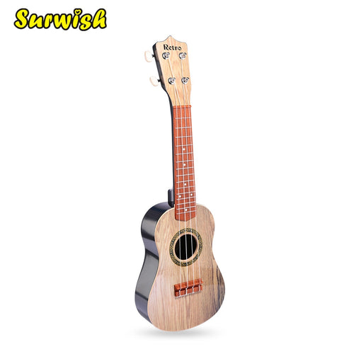 Surwish 21 Inches Kids Emulational Ukulele Musical Instrument Guitar Educational Toy with Plectrum