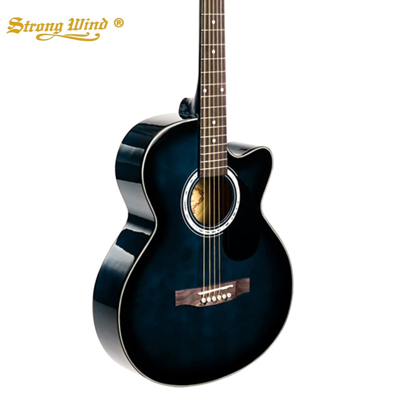 1d5895edfd Load image into Gallery viewer, Strong Wind 38 Inch Basswood Acoustic  Guitar Starter Kits Folk ...