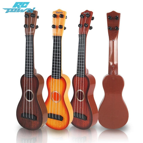 RCtown 4 Strings Kid's Plastic Musical Mini Ukulele Small Educational Hand Guitar Toys For Child zk15