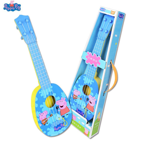 Peppa pig George Pig Musical Instruments Toy Ukulele Guitar Education Puzzle toys Kids Children For Gifts