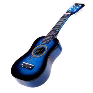 "blue 23"" Mini Guitar Basswood Kid's Acoustic Stringed Instrument with Plectrum 1st String"