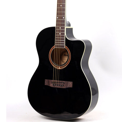39-6-5 HOT Black guitars 39 inch high quality Acoustic Guitar Basswood guitarra instrumentos Musicais with guitar strings